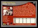 2001 Topps #194  Tony Gonzalez  Back Thumbnail