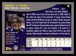 2001 Topps #16  Duane Starks  Back Thumbnail