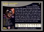 2001 Topps #17  KaRon Coleman  Back Thumbnail