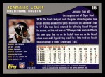 2001 Topps #116  Jermaine Lewis  Back Thumbnail