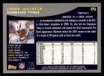 2001 Topps #174  Frank Wycheck  Back Thumbnail