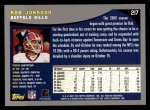 2001 Topps #217  Rob Johnson  Back Thumbnail