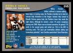 2001 Topps #245  Donald Hayes  Back Thumbnail