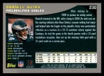 2001 Topps #230  Darnell Autry  Back Thumbnail