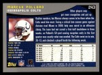2001 Topps #243  Marcus Pollard  Back Thumbnail