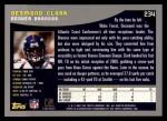 2001 Topps #234  Desmond Clark  Back Thumbnail