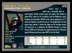 2001 Topps #376  Freddie Mitchell  Back Thumbnail