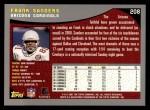 2001 Topps #208  Frank Sanders  Back Thumbnail