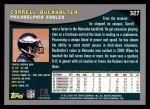 2001 Topps #327  Correll Buckhalter  Back Thumbnail