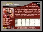 2001 Topps #223  J.J. Stokes  Back Thumbnail
