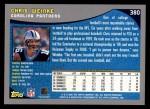 2001 Topps #380  Chris Weinke  Back Thumbnail