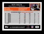2005 Topps #185  Rod Smith  Back Thumbnail