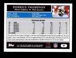 2005 Topps #27  Derrius Thompson  Back Thumbnail