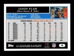 2005 Topps #75  Jason Elam  Back Thumbnail