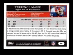 2005 Topps #66  Terrence McGee  Back Thumbnail