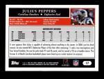 2005 Topps #17  Julius Peppers  Back Thumbnail