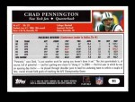 2005 Topps #91  Chad Pennington  Back Thumbnail