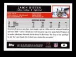 2005 Topps #61  Jason Witten  Back Thumbnail