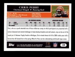 2005 Topps #129  Chris Perry  Back Thumbnail