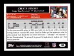 2005 Topps #138  Chris Simms  Back Thumbnail