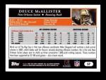 2005 Topps #57  Deuce McAllister  Back Thumbnail