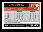 2005 Topps #29  Dante Hall  Back Thumbnail