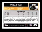 2005 Topps #50  Chris Baker  Back Thumbnail