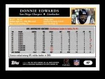 2005 Topps #47  Donnie Edwards  Back Thumbnail
