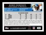 2005 Topps #213  Koren Robinson  Back Thumbnail