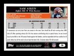 2005 Topps #78  Sam Aiken  Back Thumbnail