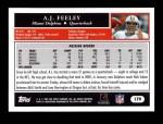 2005 Topps #179  A.J. Feeley  Back Thumbnail