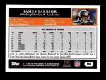 2005 Topps #199  James Farrior  Back Thumbnail