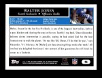 2005 Topps #46  Walter Jones  Back Thumbnail
