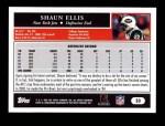 2005 Topps #33  Shaun Ellis  Back Thumbnail