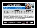 2005 Topps #211  Justin Fargas  Back Thumbnail