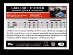 2005 Topps #181  LaBrandon Toefield  Back Thumbnail
