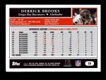 2005 Topps #25  Derrick Brooks  Back Thumbnail