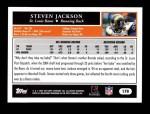 2005 Topps #170  Steven Jackson  Back Thumbnail