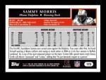 2005 Topps #173  Sammy Morris  Back Thumbnail