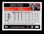 2005 Topps #131  Takeo Spikes  Back Thumbnail