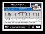 2005 Topps #160  Josh McCown  Back Thumbnail