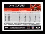 2005 Topps #143  Tony Gonzalez  Back Thumbnail