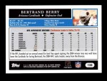 2005 Topps #133  Bertrand Berry  Back Thumbnail