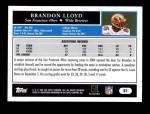 2005 Topps #51  Brandon Lloyd  Back Thumbnail