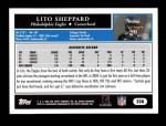 2005 Topps #258  Lito Sheppard  Back Thumbnail