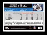 2005 Topps #248  Quincy Morgan  Back Thumbnail