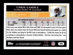 2005 Topps #306  Chris Gamble  Back Thumbnail