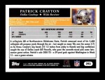 2005 Topps #293  Patrick Crayton  Back Thumbnail