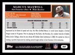 2005 Topps #367  Markus Maxwell  Back Thumbnail