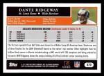 2005 Topps #372  Dante Ridgeway  Back Thumbnail